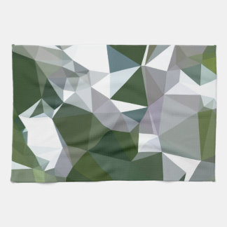 Castleton Green Abstract Low Polygon Background Hand Towels