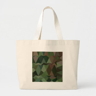 Castleton Green Abstract Low Polygon Background Large Tote Bag
