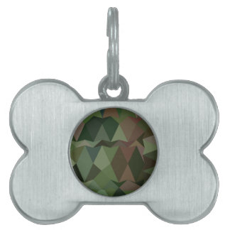 Castleton Green Abstract Low Polygon Background Pet Name Tag