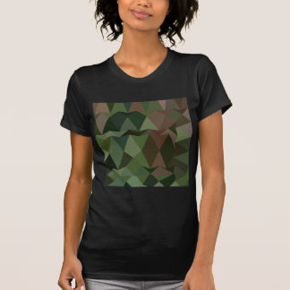 Castleton Green Abstract Low Polygon Background T-Shirt