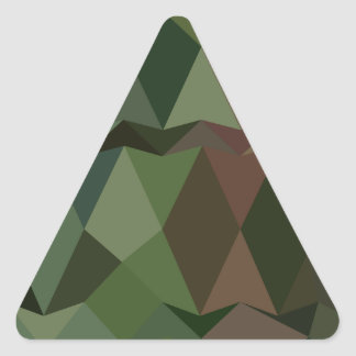 Castleton Green Abstract Low Polygon Background Triangle Sticker