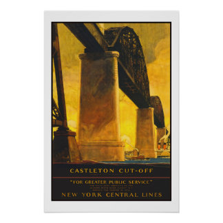 Castleton New York Vintage Travel Poster