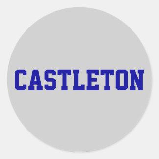 CASTLETON ROUND STICKER