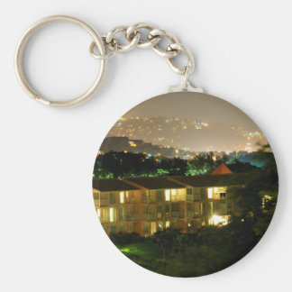 Castries. Saint Lucia Basic Round Button Keychain