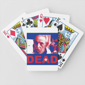 Castro dead (Cuban-flag colors) Bicycle Playing Cards