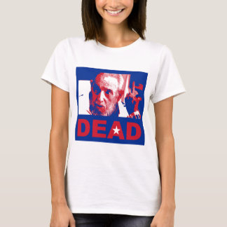 Castro dead (Cuban-flag colors) T-Shirt