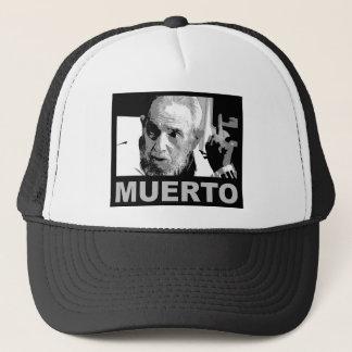 Castro muerto (blanco y negro) trucker hat