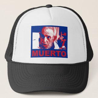 Castro muerto (colores de bandera cubana) trucker hat