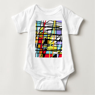 Casual abstraction baby bodysuit