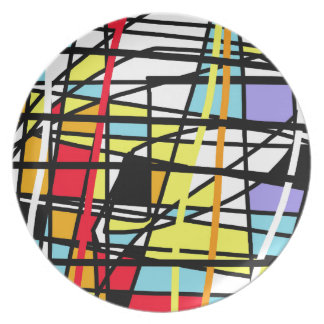 Casual abstraction dinner plates