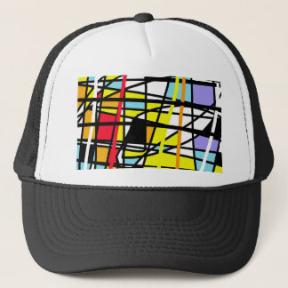 Casual abstraction trucker hat