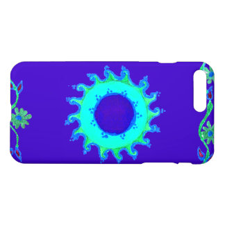 Casual aqua turquoise coral teal cyan pattern art iPhone 7 plus case