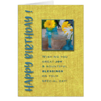Casual Bouquet Joy & Blessings Birthday Card