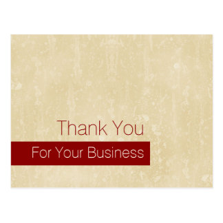 Casual Chic Beige Loyalty Thank You VIP Coupon Postcard