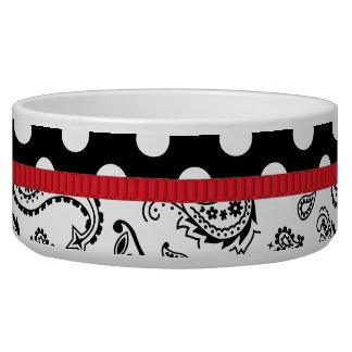Casual Elegance Black Tie Affair Pet Food Bowl