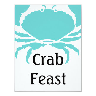 Casual Fun Crab Feast Festival Party Invitations