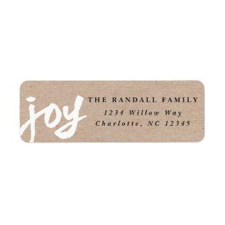 Casual joy   Holiday return address label