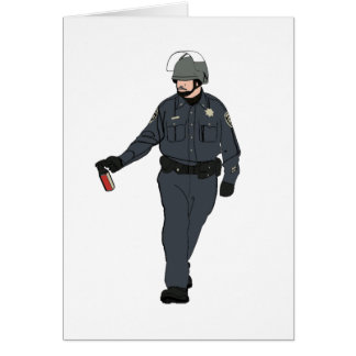 Casual Pepper Spray Cop in Colour Greeting Card