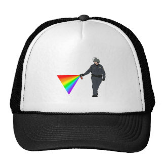 Casual Pepper Spray Cop Rainbow With Color Trucker Hat