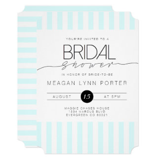 Casual Script | Modern Mint Bridal Shower Card