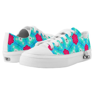 "Casual shoe, Pink and Blue ""Sugar and Ice "" Low-Top Sneakers"