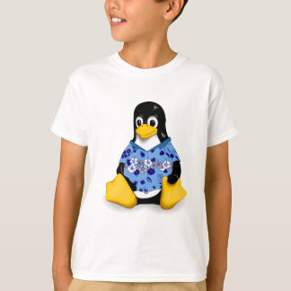 Casual Tux  Blue Hibiscus Kids Tagless Jersey T-Shirt