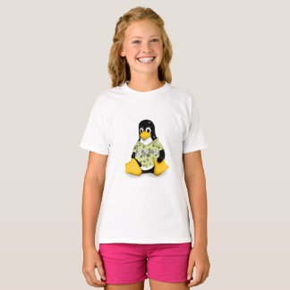 Casual Tux Hibiscus Girls Tagless Jersey T-Shirt