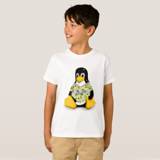 Casual Tux  Hibiscus Kids Tagless Jersey T-Shirt