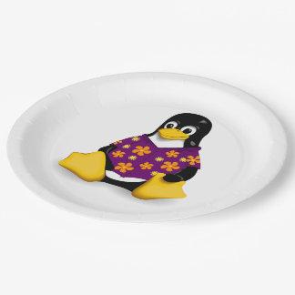 "Casual Tux Paper Plates - 9"""