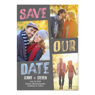 Casually Chic Save The Date Card