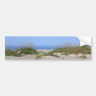 Caswell Beach, NC Land and Seascape Bumper Sticker
