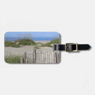 Caswell Beach, NC Land and Seascape Luggage Tag