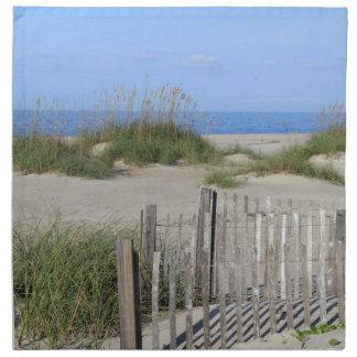 Caswell Beach, NC Land and Seascape Napkin