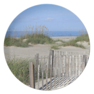Caswell Beach, NC Land and Seascape Plate