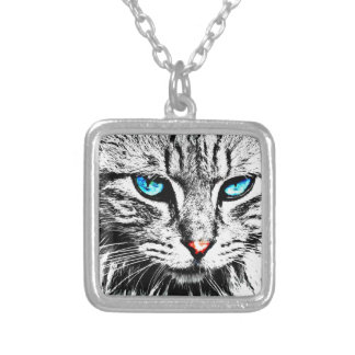 cat2y silver plated necklace
