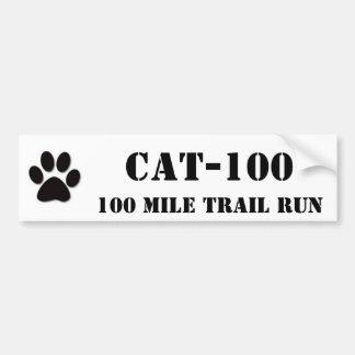 CAT-100, 100 Mile Trail Run Car Bumper Sticker