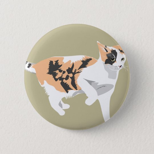 Cat 2 Inch Round Button
