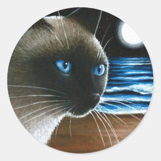 Cat 396 Siamese Round Sticker