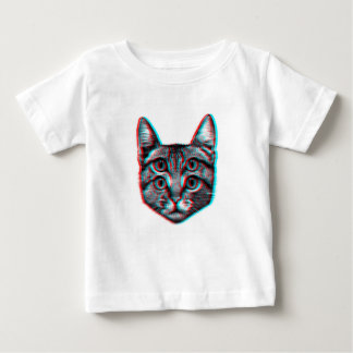 Cat 3d,3d cat,black and white cat baby T-Shirt