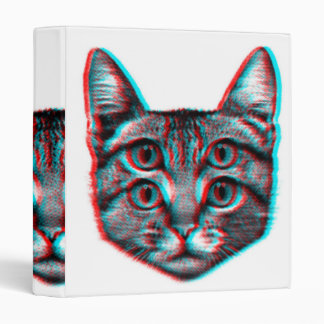 Cat 3d,3d cat,black and white cat binder
