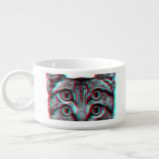 Cat 3d,3d cat,black and white cat bowl