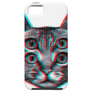 Cat 3d,3d cat,black and white cat case for the iPhone 5