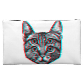 Cat 3d,3d cat,black and white cat cosmetic bag