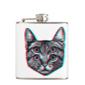 Cat 3d,3d cat,black and white cat flask