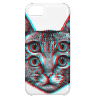 Cat 3d,3d cat,black and white cat iPhone 5C cover