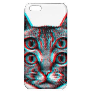 Cat 3d,3d cat,black and white cat iPhone 5C covers
