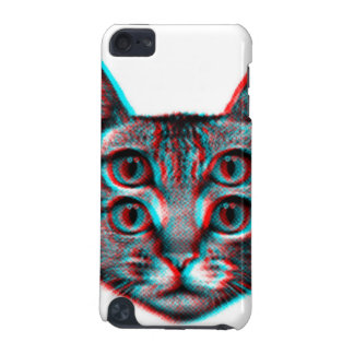 Cat 3d,3d cat,black and white cat iPod touch (5th generation) covers
