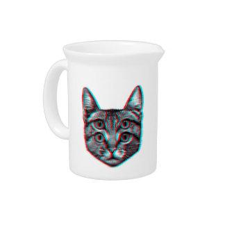 Cat 3d,3d cat,black and white cat pitcher