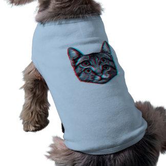 Cat 3d,3d cat,black and white cat shirt