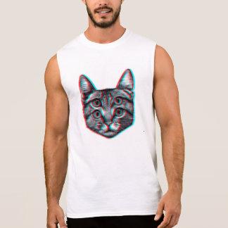Cat 3d,3d cat,black and white cat sleeveless shirt